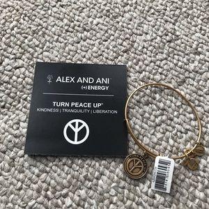 NWT Alex and Ani peace up bracelet